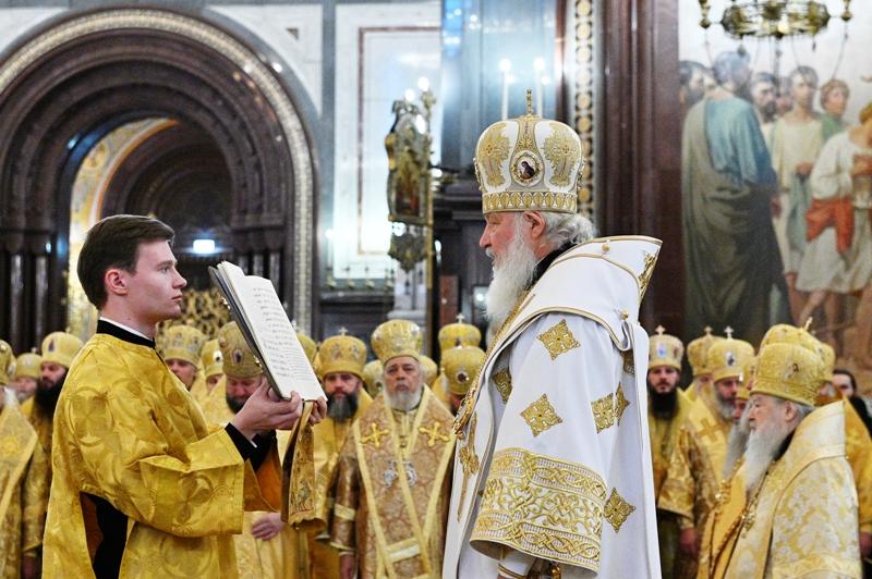 Света Литургија поводом великог јубилеја Патријарха Кирила