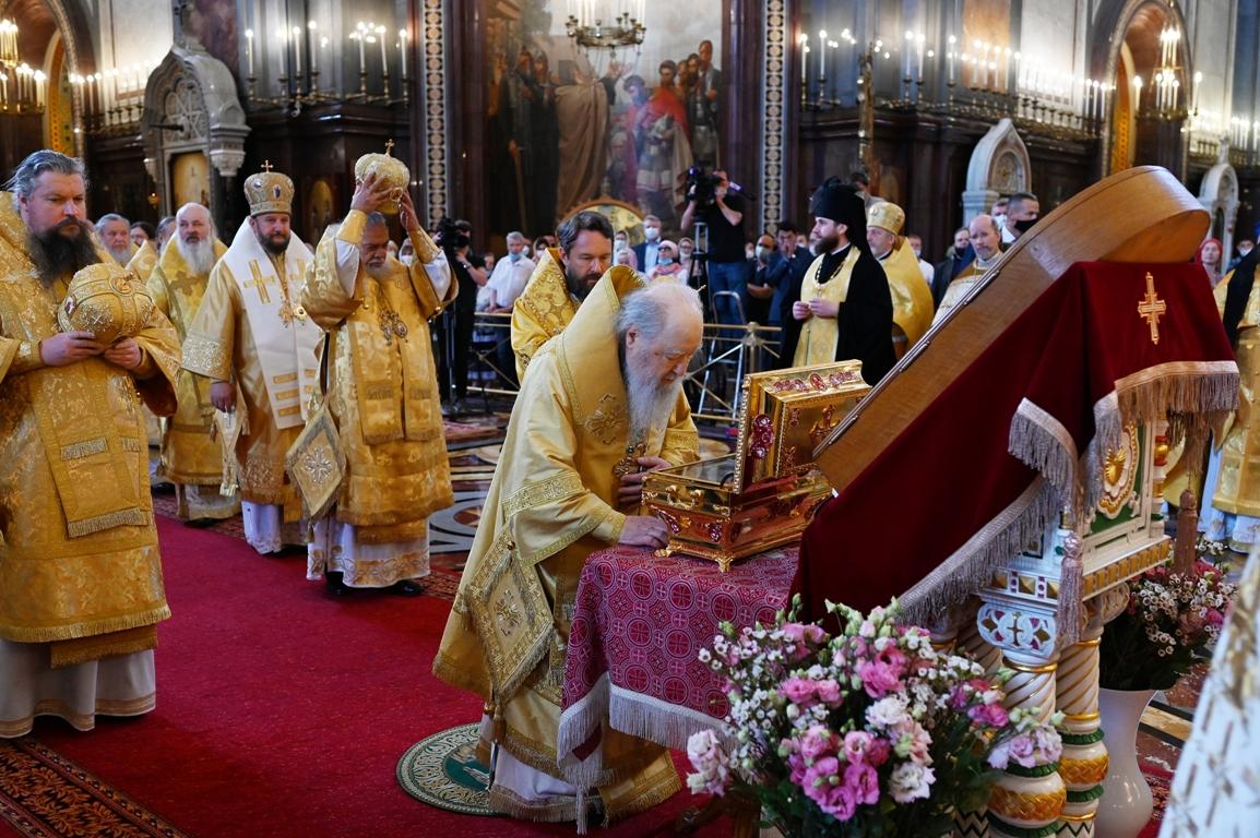 Патријарашка Литургија на црквено-државни празник Крштења Русије