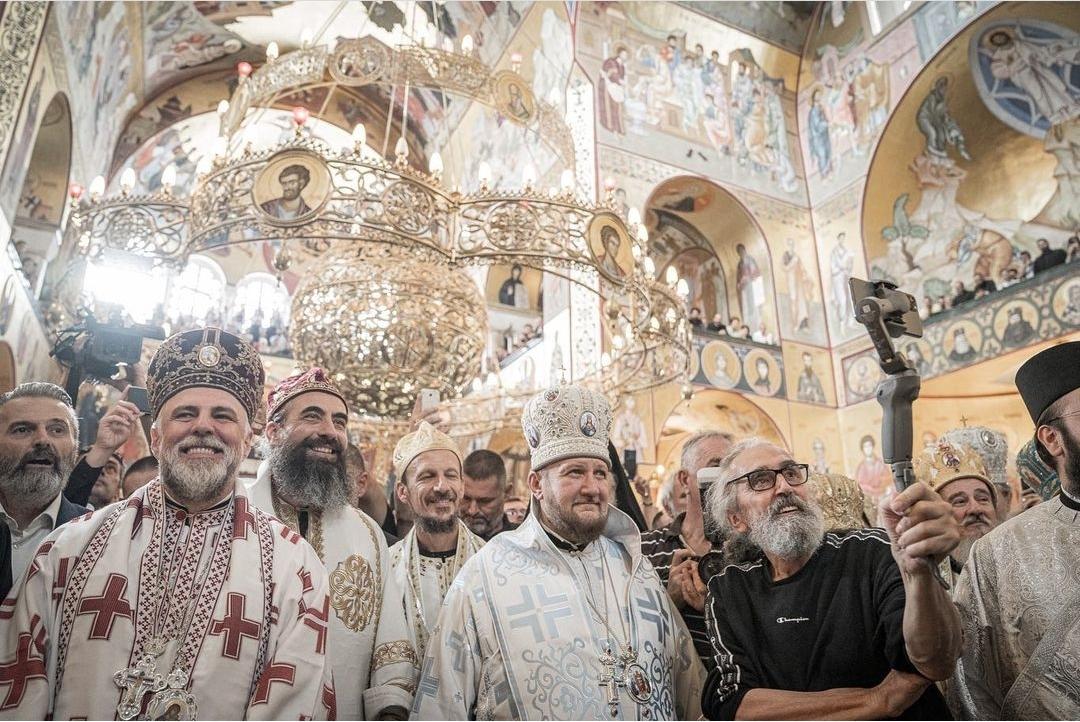Епископ моравички Антоније на устоличењу Митрополита црногорско-приморског Јоаникија