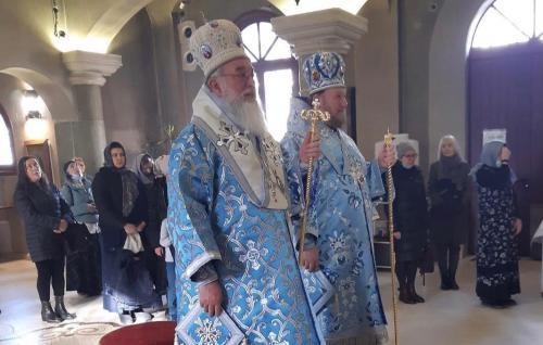 Празник Сретења Господњег на Руском подворју у Београду (15.02.2021)