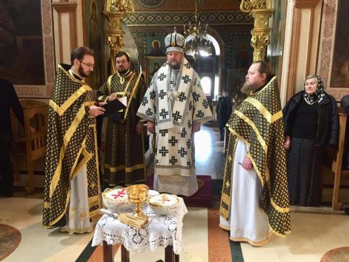 Литургија Пређеосвећених дарова у петак 15. марта 2019. године