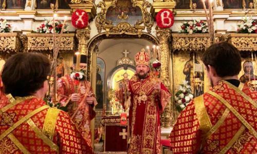 Васкрс на Подворју СПЦ у Москви (19.04.2020)