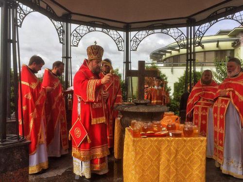 Празник Изношења Часног Крста на Подворју СПЦ у Москви (14.08.2020)