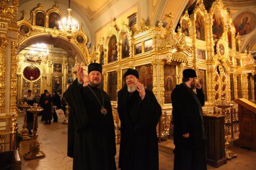 Епископ Антоније честитао имендан оцу Николају балашову (19.12.2018)