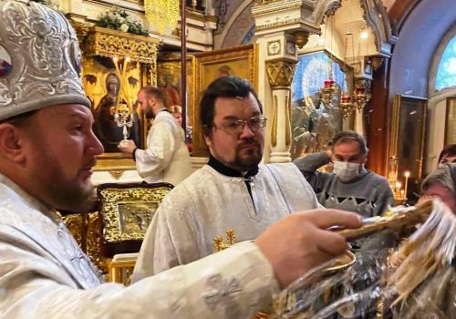 Празник Богојављења на Подворју СПЦ у Москви (19.01.2021)