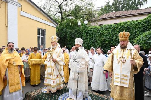 Литургија у Антиохијском подворју у Москви (26.07.2021)