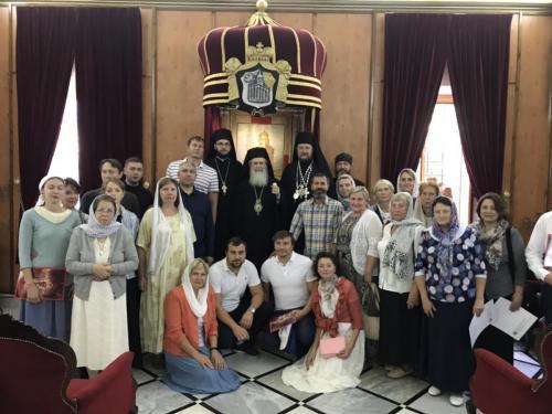 Пријем код Јерусалимског Патријарха Теофила (29.09.2018)
