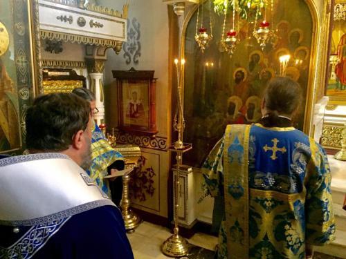 Бденије уочи празника Богољубске иконе Пресвте Богородице (30.06.2019)