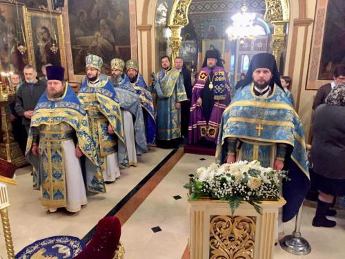 Празник чудотворне иконе Пресвете Богородице Знаменије (10.12.2018)