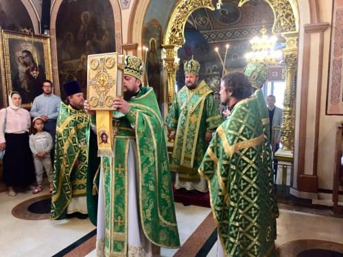 Светом Литургијом Епископ Антоније обележио 12-годишњицу свог архијерејског служења (23.07.2018)
