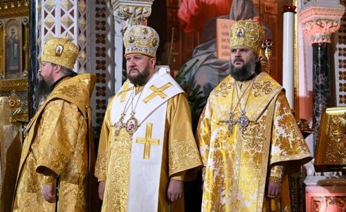 Велико вечерње у храму Христа Спаситеља у Москви (07.01.2020)